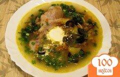 Фото рецепта: «Грибной суп с маслинами»