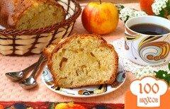 Фото рецепта: «Манник на кефире с яблоками»