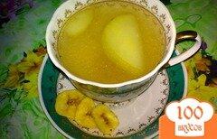 Фото рецепта: «Компот яблочный с бананом и кардамоном»