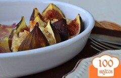 Фото рецепта: «Инжир с козьим сыром и орешками»