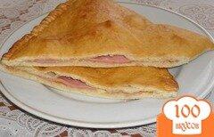 Фото рецепта: «Чебуреки с колбасой»