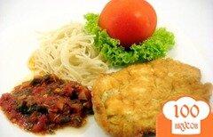 Фото рецепта: «Свиная отбивная со спагетти»