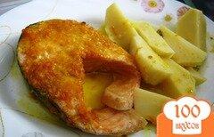 Фото рецепта: «Семга в апельсиновой глазури»