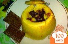 Фото рецепта: «Яблоки печеные с шоколадом»