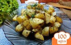 Фото рецепта: «Печенный картофель с салом и орегано»