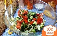 Фото рецепта: «Салат с лаймово-медовой заправкой»