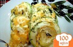 Фото рецепта: «Картофель с кабачками запеченные в сливках»
