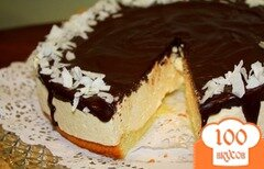 """Фото рецепта: «Быстрый торт """"Птичье молоко""""»"""