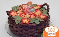 """Фото рецепта: «Торт """"Корзина с цветами""""»"""
