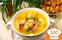 Фото рецепта: «Сырный суп с ребрышками»