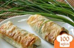 Фото рецепта: «Лаваш с сыром в духовке»