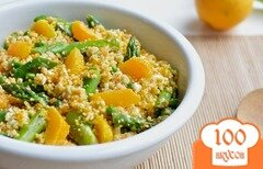 Фото рецепта: «Салат из кускуса с овощами и апельсинами»