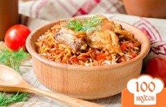 Фото рецепта: «Курица с пастой Орзо»