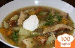 Фото рецепта: «Суп из лисичек замороженных»