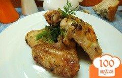 Фото рецепта: «Куриные крылышки с шафраном и соевым соусом»