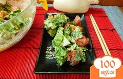 Фото рецепта: «Салат с пекинской капустой и соевым соусом»