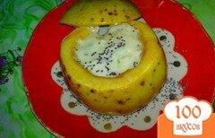 Фото рецепта: «Яблоки печеные с маком и соусом»