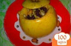 """Фото рецепта: «Яблоки печеные с """"полезной"""" начинкой»"""