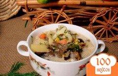 Фото рецепта: «Суп из опят, рыжиков и цветной капусты»