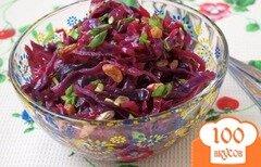 Фото рецепта: «Постный салат с краснокочанной капустой и изюмом»