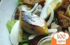 Фото рецепта: «Салат из копченой скумбрии»
