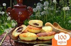 Фото рецепта: «Сырники с шоколадной начинкой»