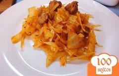 Фото рецепта: «Тушеная капуста с говядиной, розмарином и шафраном»