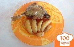 Фото рецепта: «Утка кусочками с картофелем в рукаве»