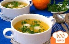 Фото рецепта: «Апельсиновый суп с рисовыми шариками»