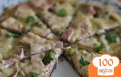 "Фото рецепта: «Пицца ""Минутка"" на сковороде»"