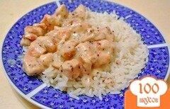 Фото рецепта: «Курица в сметанно-горчичном соусе»