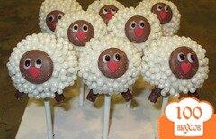 Фото рецепта: «Десерт в виде овцы»