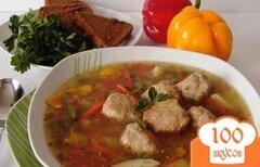 Фото рецепта: «Суп весенний с фрикадельками из курицы»