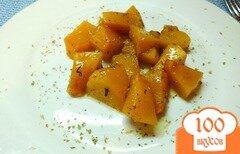 Фото рецепта: «Кабак запеченный с медом и пряностями»