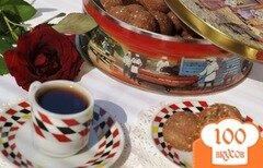 Фото рецепта: «Шоколадное печенье с кукурузной крупой и кунжутом»