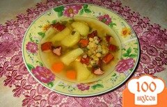 Фото рецепта: «Гороховый суп с копченостями»