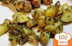 Фото рецепта: «Молодой картофель запеченый в оригинальном соусе»