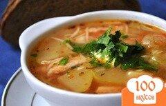 Фото рецепта: «Суп с кабачками и курицей»