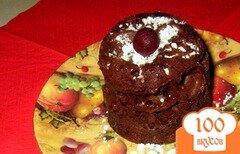 Фото рецепта: «Какао-бисквит в микроволновке»