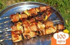 Фото рецепта: «Шашлык из говядины с горчицей и гранатовым соусом»