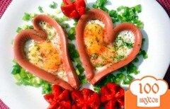 Фото рецепта: «Яичница с сосисками»