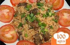 Фото рецепта: «Печень с рисом»