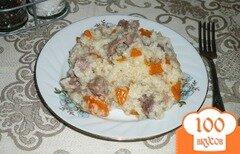 Фото рецепта: «Рисовая каша с куриными желудками»