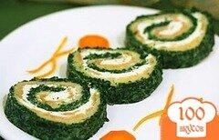 Фото рецепта: «Рыба, запеченная со шпинатом»