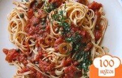 Фото рецепта: «Спагетти с соусом а ля путанеска»