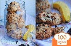 Фото рецепта: «Овсяное печенье с бананом и шоколадом»