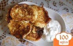 Фото рецепта: «Оладьи из замороженного кабачка»
