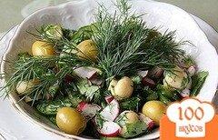 Фото рецепта: «Салат с грибами шампиньонами консервированными»