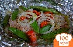 Фото рецепта: «Cемга с овощами в фольге»