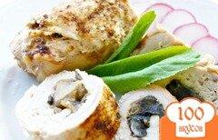 Фото рецепта: «Рулетики из курицы с грибами»